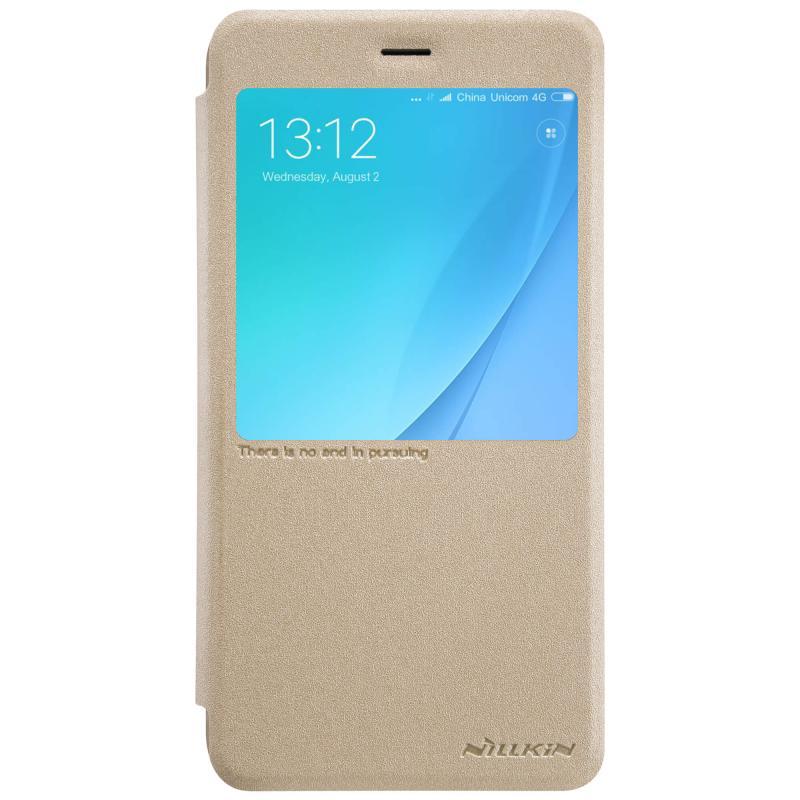 Чехол - книжка Nillkin Sparkle для Xiaomi A1 Gold нейлон nillkin samsung s8plus tpu прозрачный мягкий чехол чехол телефонный чехол белый