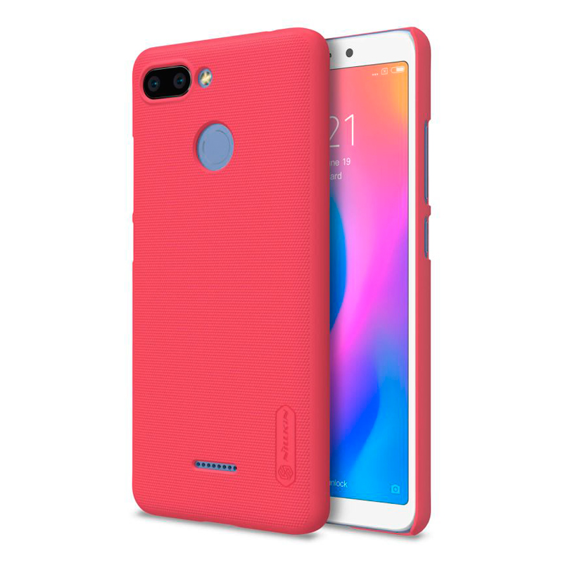 Чехол Nillkin Super Frosted Shield для Xiaomi Redmi 6 Red защитный чехол nillkin super frosted shield для xiaomi mi 9 gold
