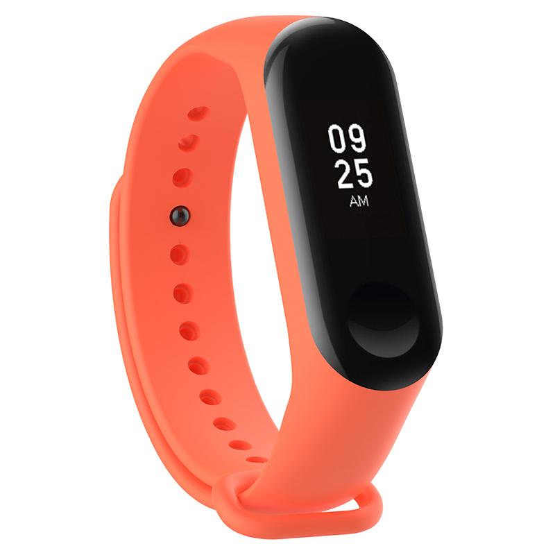 Силиконовый ремешок для Xiaomi Mi Band 3 Borasco Orange aксессуар силиконовый ремешок red line for xiaomi mi band 3 turquoise