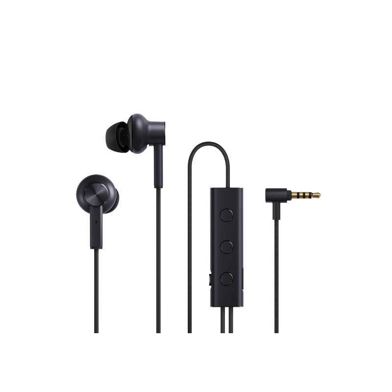 Mi Noise Canceling Earphones Black superlux hd669 professional studio standard monitoring headphones auriculares noise isolating game headphone sports earphones