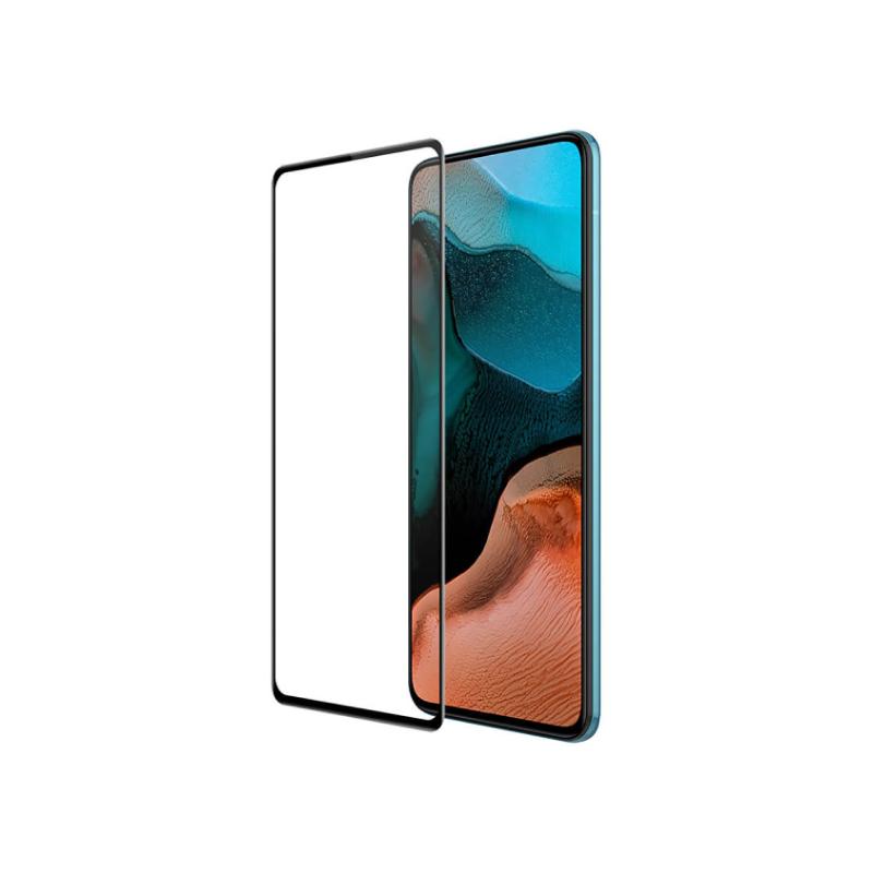 Full Screen tempered glass FULL GLUE для Xiaomi Poco F2 Pro (черная рамка) фото 2