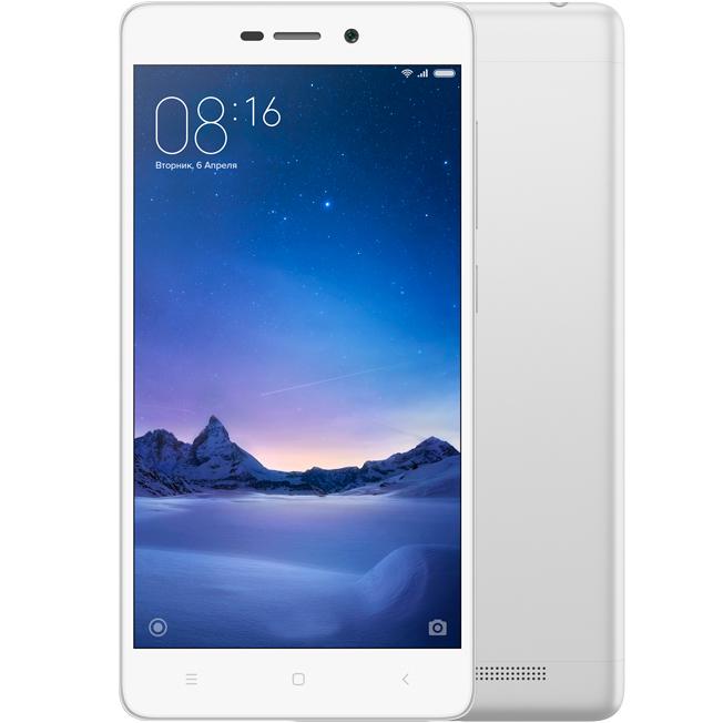 Redmi 3 Pro 32GB Silver аксессуар чехол xiaomi redmi note 3 pro zibelino ultra thin case white zutc xmi rdm not3 pro wht