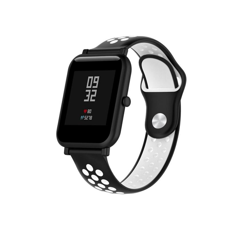 для Xiaomi Amazfit 20 mm (черный с белым)