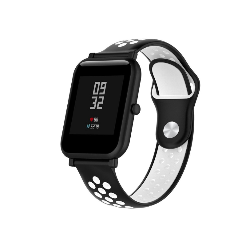 для Xiaomi Amazfit 22 mm (черный с белым)