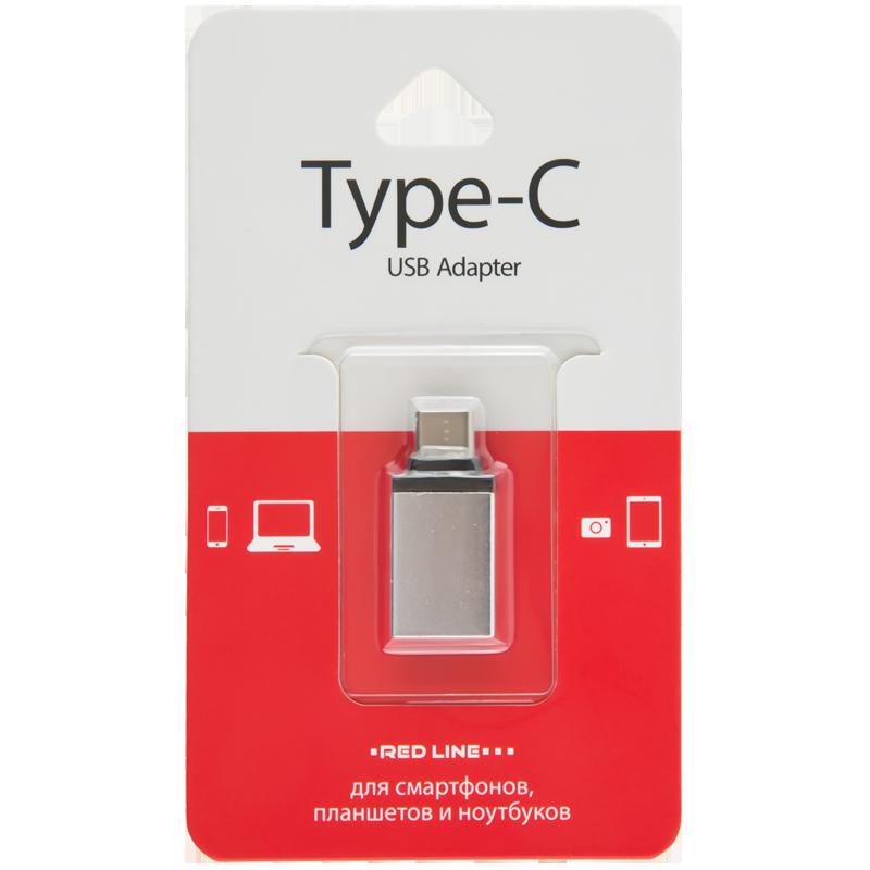 Адаптер-переходник OTG Type-C - USB 3.0 vention usb type c m otg usb 2 0 af адаптер переходник