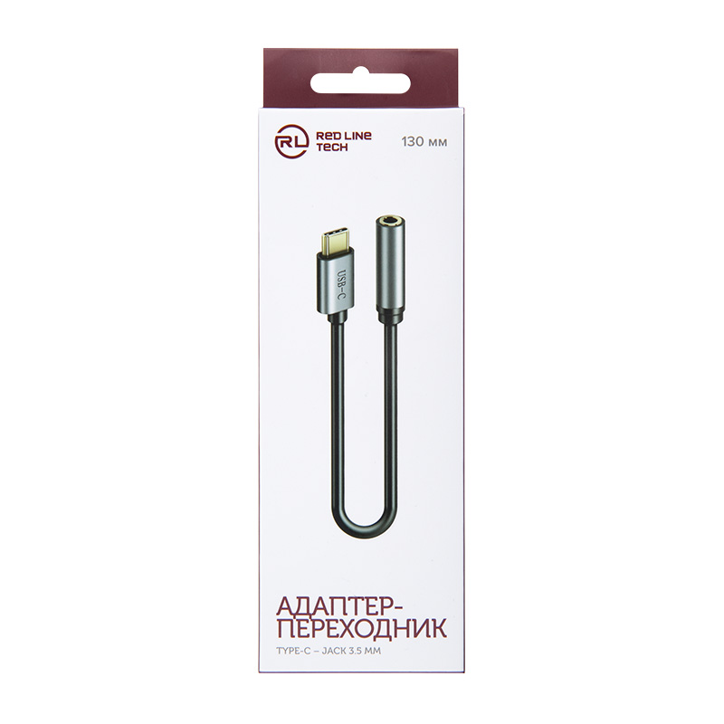 Red Line USB-C – Jack 3,5 мм (серый) фото