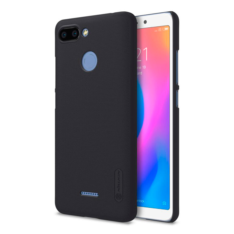 Чехол Nillkin Super Frosted Shield для Xiaomi Redmi 6 Black чехол для xiaomi redmi 6 nillkin super frosted shield case красный
