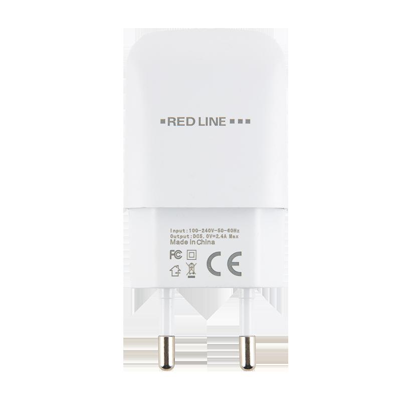 СЗУ Red Line 1 USB (белый) сзу red line tech 3 usb qc 3 0 модель nqc 3a