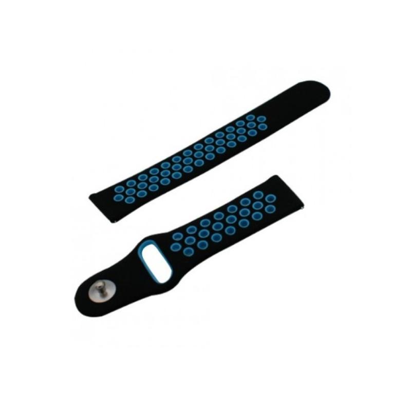 для Amazfit 20 mm (черный с синим) фото 3