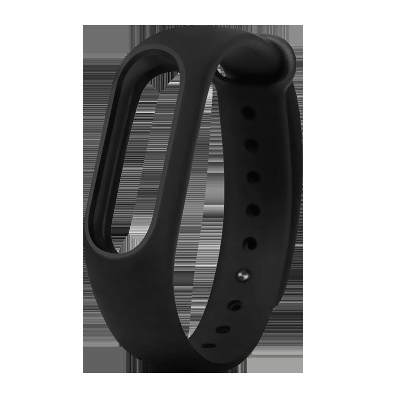 Силиконовый ремешок для Xiaomi Mi Band 2 Borasco черный aксессуар ремешок xiaomi mi band 3 brown
