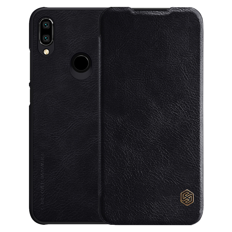 Чехол - книжка Nillkin Qin leather case для Xiaomi Redmi Note 7 Black new folding stand rotating pu leather case for asus fonepad 7 fe170 7 tablet