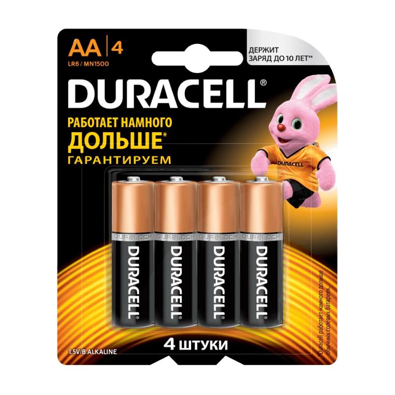 Duracell AA LR6-4BL BASIC 4шт фото