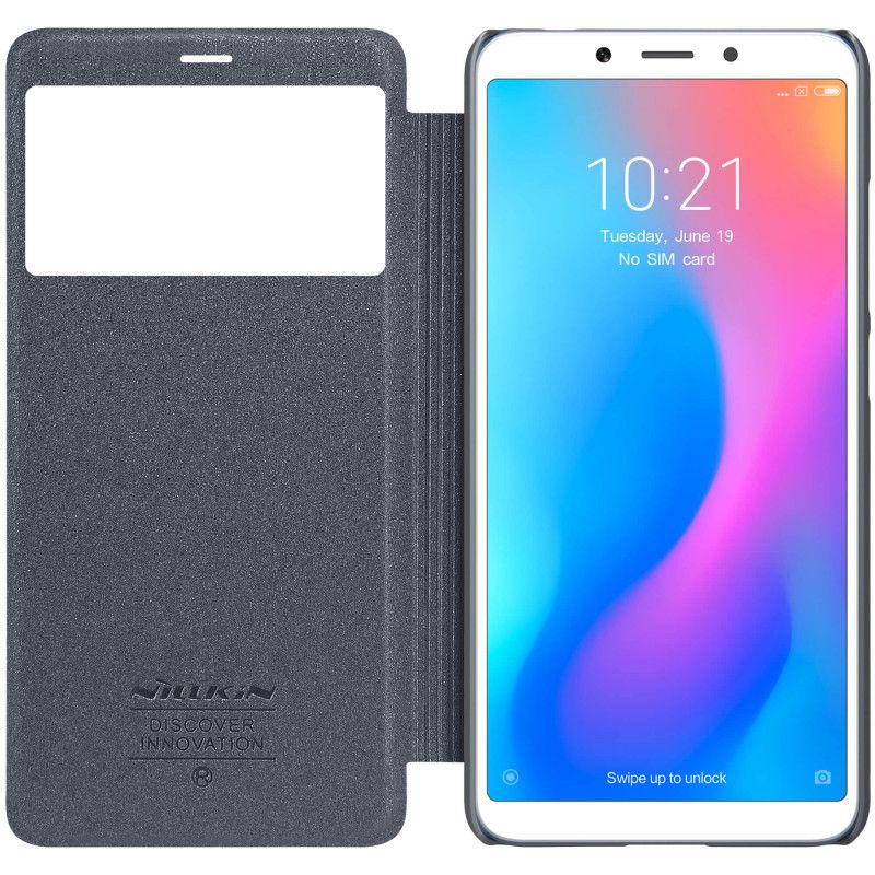 Чехол - книжка Nillkin Sparkle для Xiaomi Redmi 6A Black nillkin sparkle leather case чехол для xiaomi redmi 4x black