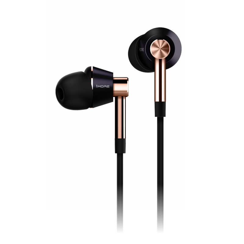 Triple-Driver In-Ear Headphones (золотой) 1more e1001 triple driver in ear earphones earbuds earpiece headset with apple ios and android compatible microphone 1more e1001