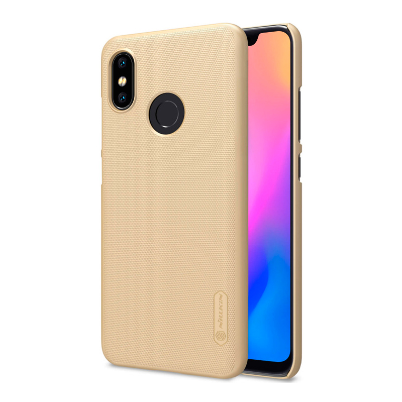 Защитный чехол Nillkin Super Frosted Shield для Xiaomi Mi 8 Gold защитный чехол nillkin super frosted shield для xiaomi mi 8 white