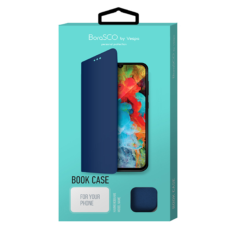 Borasco Book Case для Xiaomi Redmi 8A (синий)