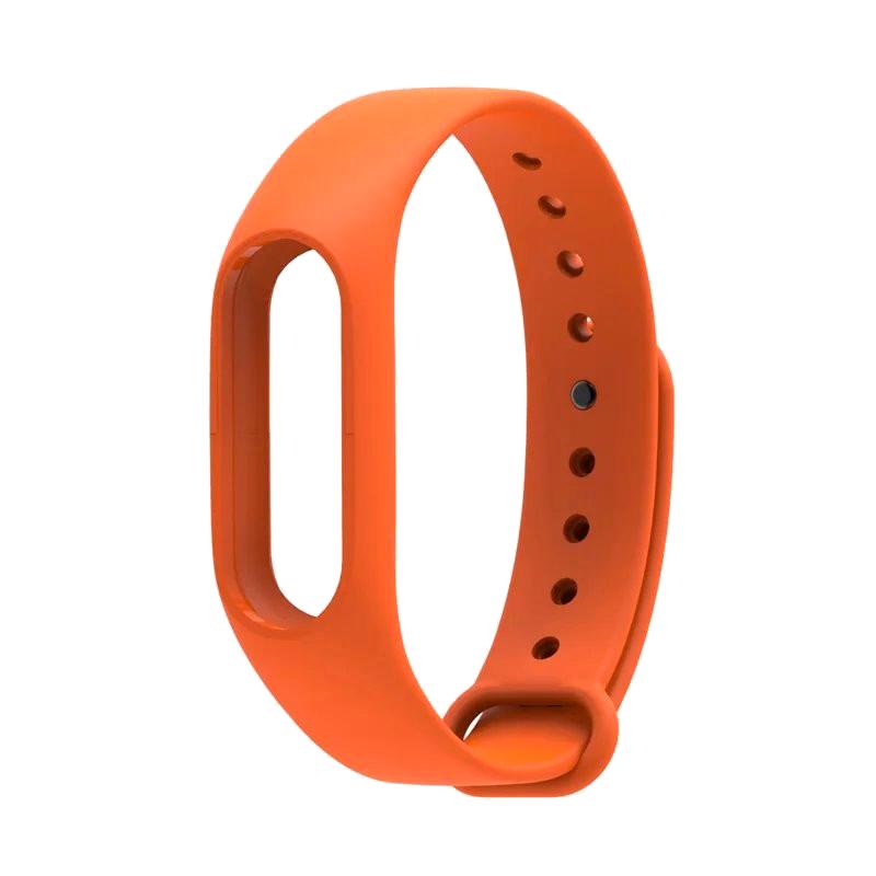 Силиконовый ремешок для Xiaomi Mi Band 2 Borasco оранжевый цена и фото