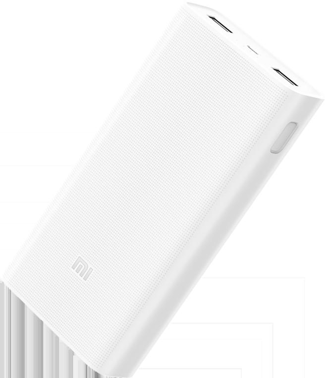 Внешний аккумулятор Mi Power Bank 2 20000 мАч White внешний аккумулятор xiaomi mi power bank 2 1a usb microusb 10000mah серебристый ndy 02 an