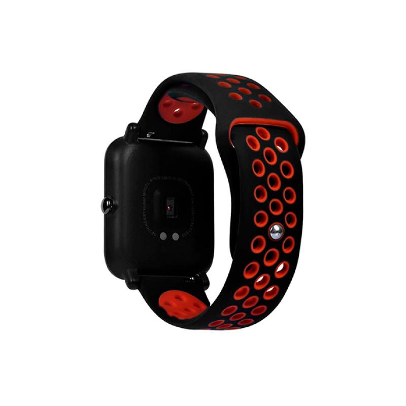 для Amazfit 22 mm (черный с красным)