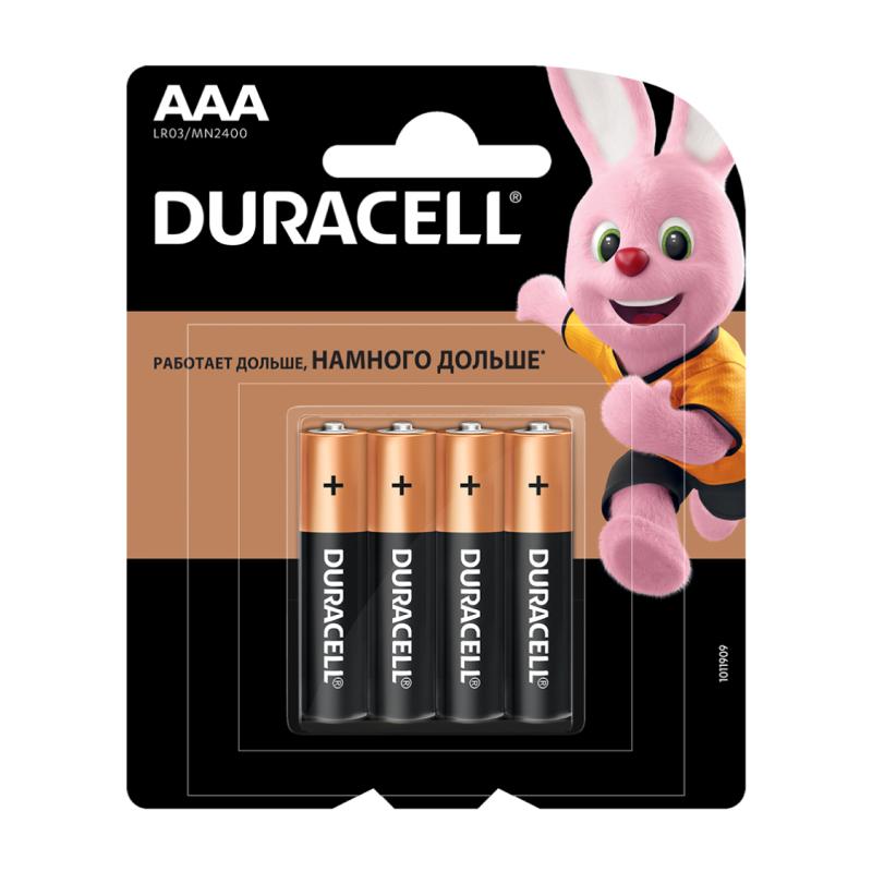 Duracell AAA LR03-4BL BASIC 4шт duracell aaa lr03 4bl ultra power 4шт