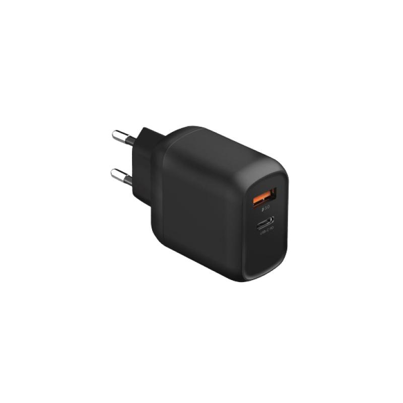 Зарядное устройство EnergEA Ampcharge USB + USB-C (черный)