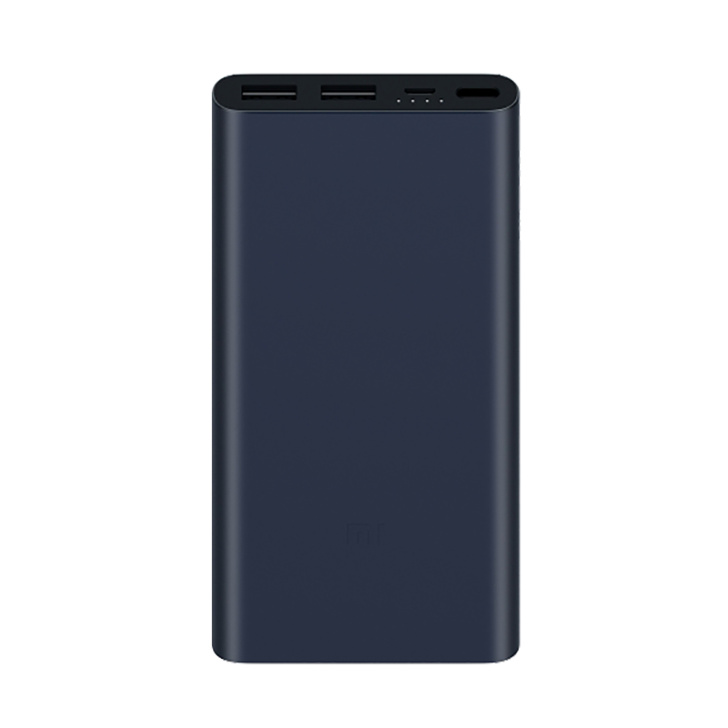 Mi Power Bank 2S 10000 мАч Black original romoss sense4 dual usb 10400mah power bank