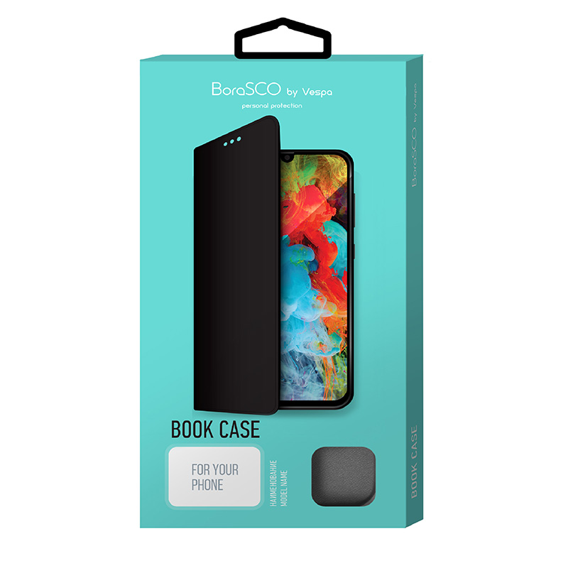Book Case для Xiaomi Redmi Note 9 (черный)