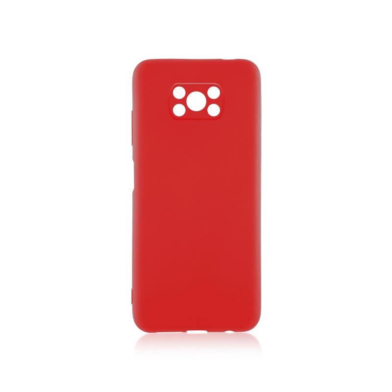 Чехол Brosco Colourful для Xiaomi Poco X3 Pro (красный)