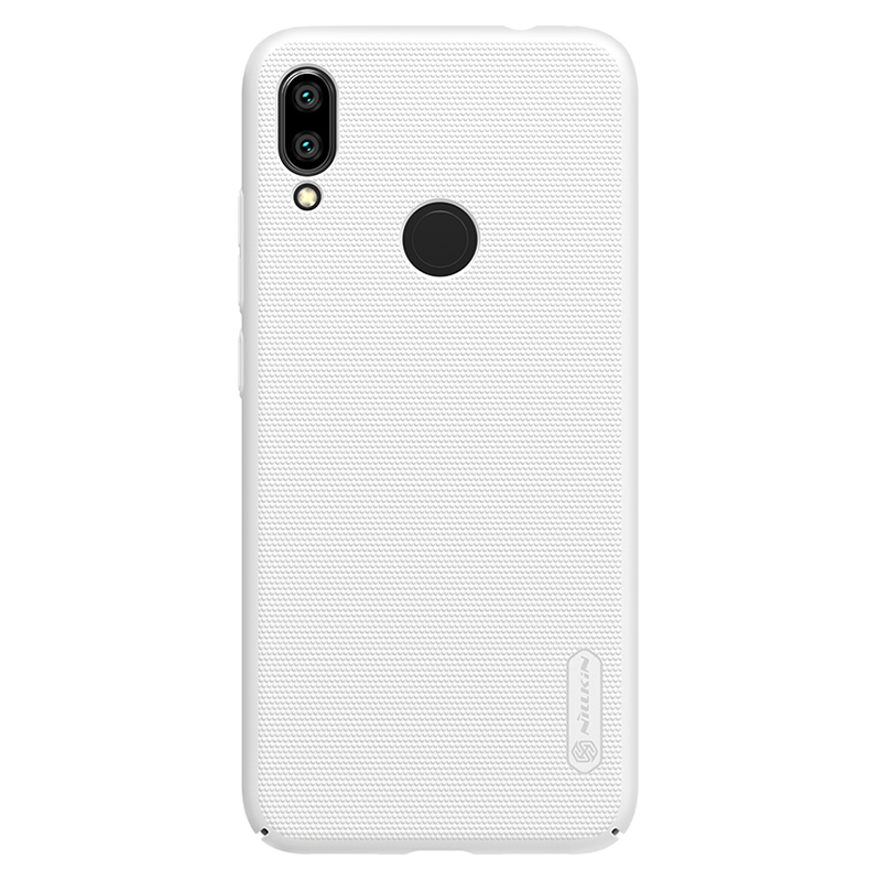 Защитный чехол Nillkin Super Frosted Shield для Xiaomi Redmi Note 7 White чехол клип кейс nillkin super frosted shield для apple iphone 7 розовый