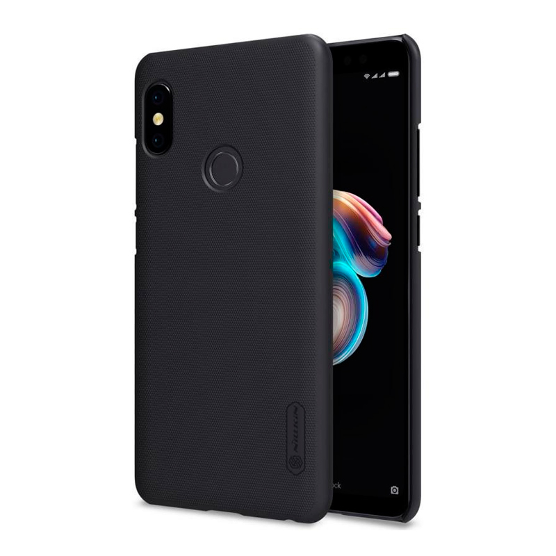 Защитный чехол Nillkin Super Frosted Shield для Xiaomi Redmi Note 5 Black аксессуар чехол книга для xiaomi redmi 5 plus redmi note 5 innovation book silicone rose gold 11447