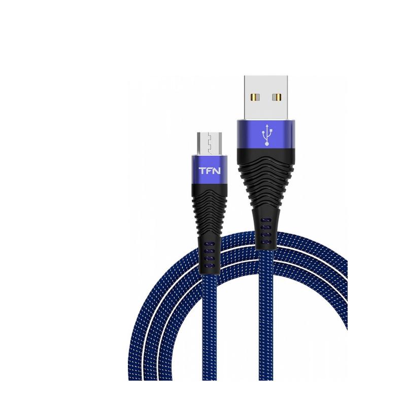 Кабель TFN Forza microUSB 1.0 m (синий) кабель tfn forza usb type c 1 0 m красный