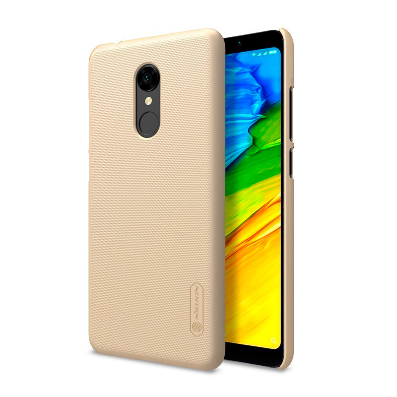 Чехол Nillkin Super Frosted Shield для Xiaomi Redmi 5 Gold защитный чехол nillkin super frosted shield для xiaomi mi 9 gold