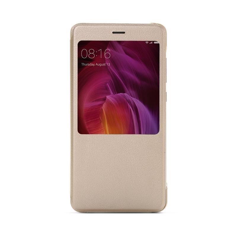 Умный-чехол книжка для Xiaomi Redmi Note 4 золотой