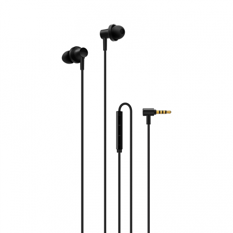 Mi In-Ear Headphones Pro 2 Black in ear earphone heavy bass stereo headphones music earbud 3 5mm earpieces with mic for phone computer mp3 player laptop
