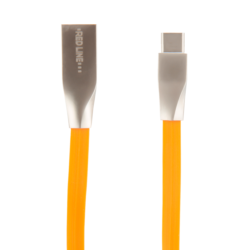 Дата-кабель Red Line SMART HIGH SPEED USB-Type-C (оранжевый) дата кабель redline usb type c orange