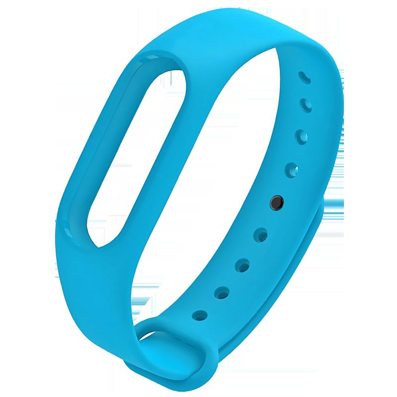 Силиконовый ремешок для Xiaomi Mi Band 2 голубой стоимость