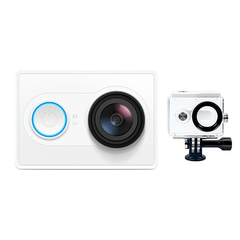 YI Экшн камера комплект с аквабоксом White ip камера xiaomi yi home camera 720p black eu international version