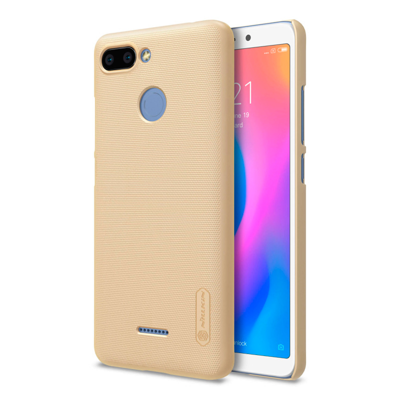 Чехол Nillkin Super Frosted Shield для Xiaomi Redmi 6 Gold чехол клип кейс nillkin super frosted для xiaomi redmi 4a черный
