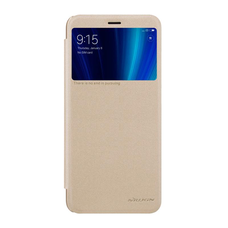 Чехол - книжка Nillkin Sparkle для Xiaomi Mi A2 Gold чехол книжка nillkin sparkle для huawei y9 2018 золотой