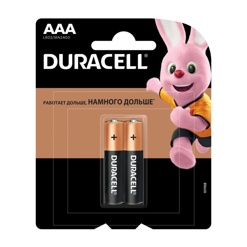 Duracell AAA LR03-2BL BASIC 2шт