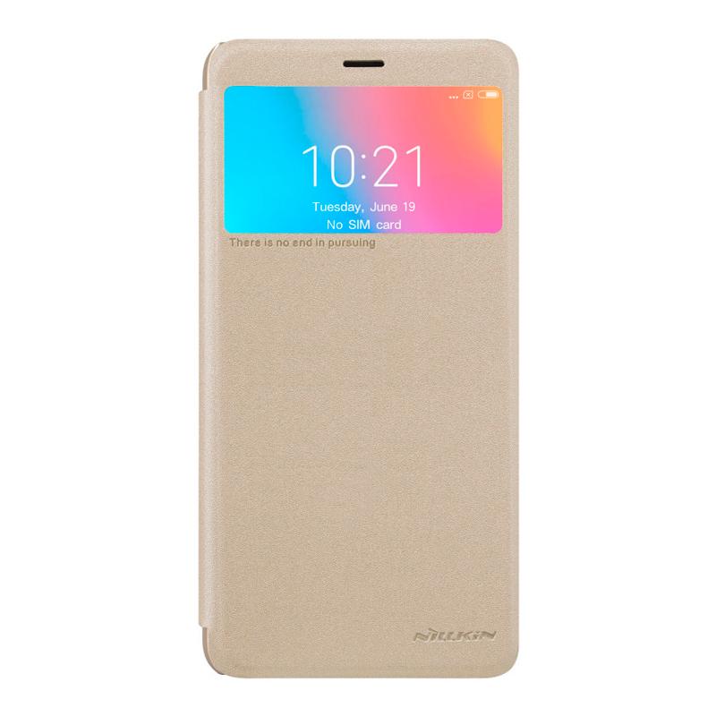 Чехол - книжка Nillkin Sparkle для Xiaomi Redmi 6 Gold чехол книжка nillkin sparkle для huawei y9 2018 золотой