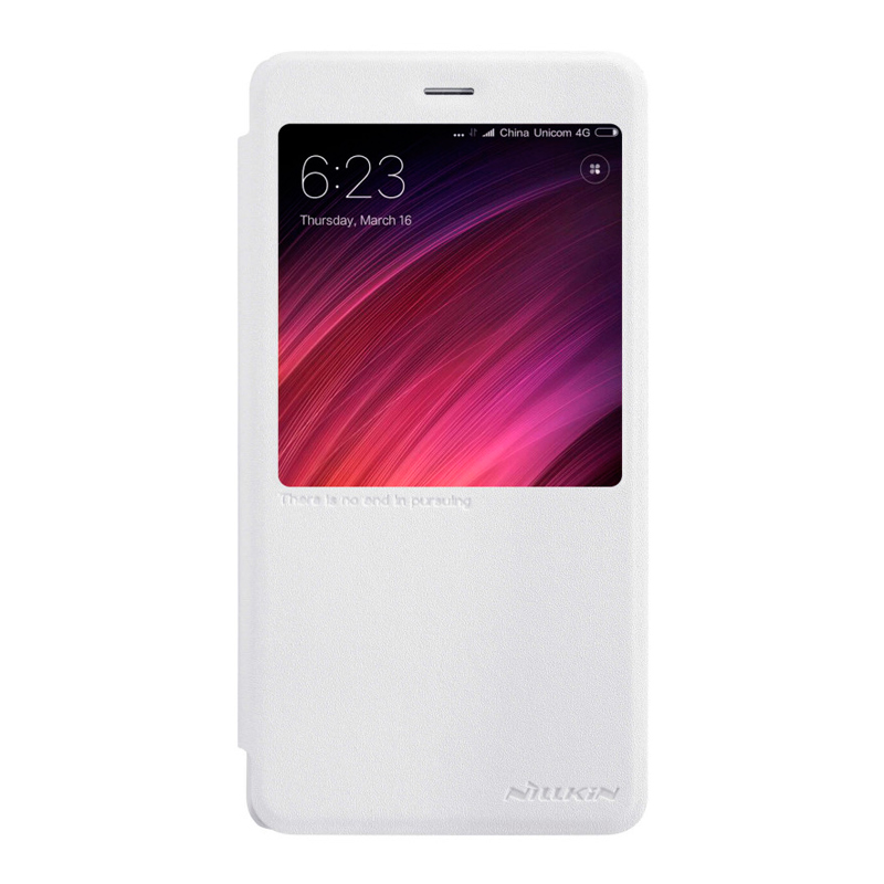 Чехол - книжка Nillkin Sparkle для Xiaomi Redmi Note 4 White цена
