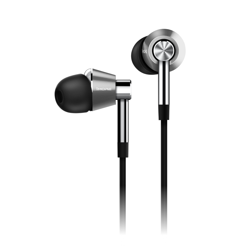 Triple-Driver In-Ear Headphones (серебристый) 1more e1001 triple driver in ear earphones earbuds earpiece headset with apple ios and android compatible microphone 1more e1001