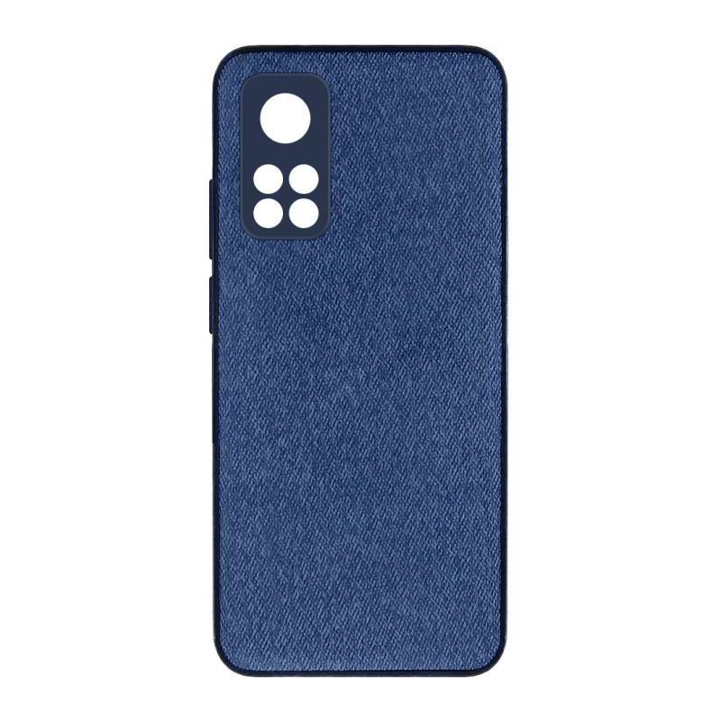 Чехол Wellcase Kanvas jeans PU Hard для Xiaomi Mi 10T/Mi 10T Pro (синий)