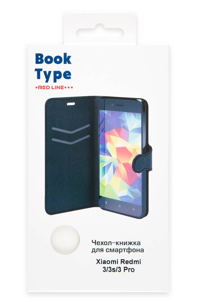 Чехол-книжка Red Line Book Type для Xiaomi Redmi 3/3s/3 Pro (белый)