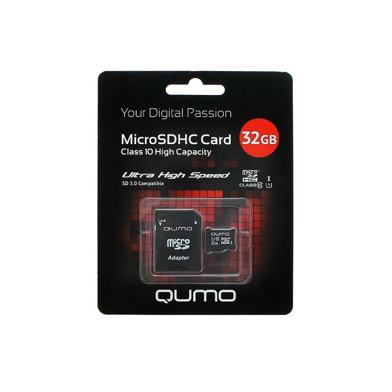 Карта памяти QUMO MicroSDHC Сlass 10 32GB