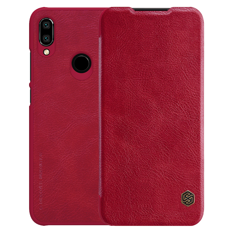 Чехол - книжка Nillkin Qin leather case для Xiaomi Redmi Note 7 Red nillkin чехол nillkin qin leather case для apple iphone 7