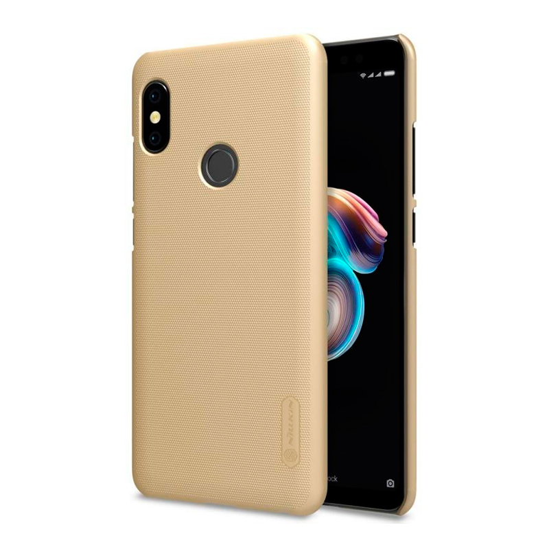 Защитный чехол Nillkin Super Frosted Shield для Xiaomi Redmi Note 5 Gold аксессуар чехол книга для xiaomi redmi 5 plus redmi note 5 innovation book silicone rose gold 11447