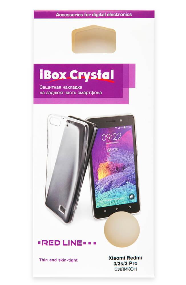 Накладка силикон iBox Crystal для Xiaomi Redmi 3/3s/3 Pro серый
