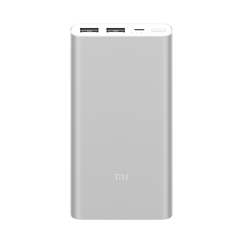 Mi Power Bank 2S 10000 мАч Silver original romoss sense4 dual usb 10400mah power bank